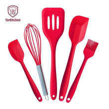 Silicone Cooking Utensil Set with Utensil Rest Heat Resistant Spatulas Set