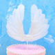 Buzzy party Angel Wing Cake topper Swan Feather Decorations for Party Decoration