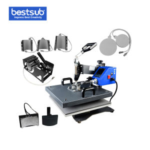 MATE-8IN1-3 BestSub Sublimation Mate 8 in 1 Combo Heat Press Machine