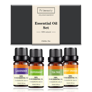 Wholesale 100% Pure Therapeutic Grade Essential Oil Set 10ml Private Label Organic Eucalyptus Tea Tree Lavender Essential Oil