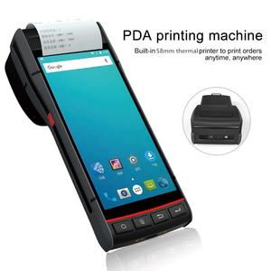 5.5 inch display screen Rugged Industrial IP66 Handheld POS Android 8.1 Barcode Scanner Terminal PDA Printer for logistics