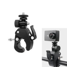 High Quality 1/4 Camera DV DSLR Bike Bicycle Handlebar Clamp Bracket Tripod Mount Screw Clip Tripods for Gopro Hero5/4/3+/3/2/1