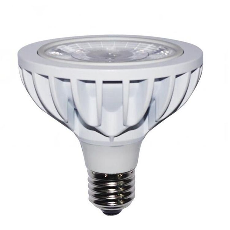 Cheap price 24degree silver black white shell 5700k no flicker exterior use COB 15W par30 short neck led