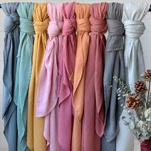 2020 New Color Gots Organic Bamboo Cotton Solid Plain Baby Muslin Blanket  For Summer Spring