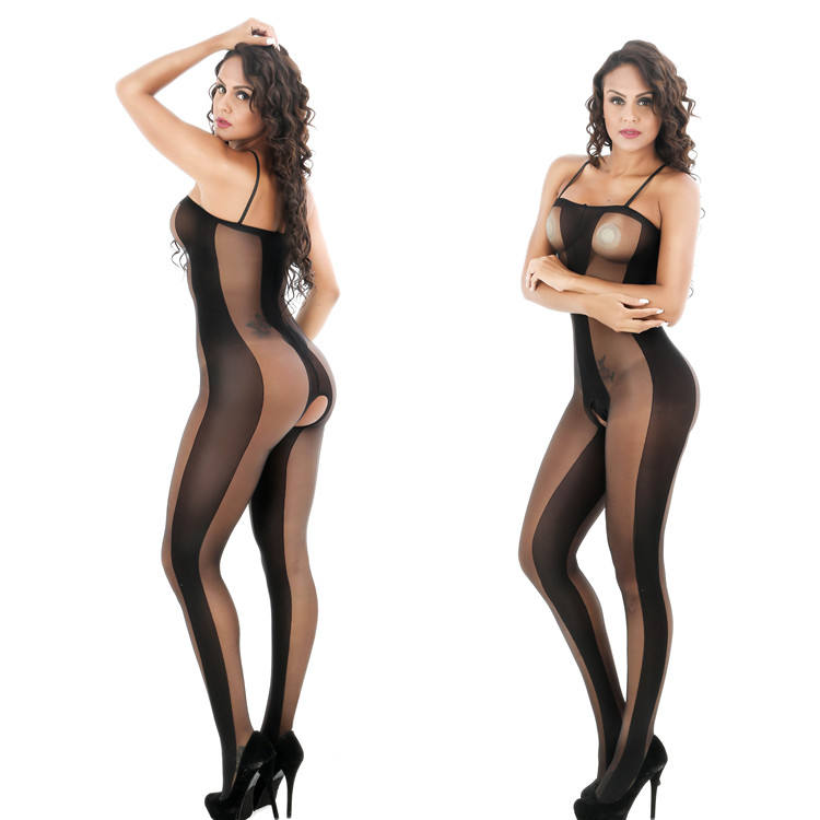 Good quality perspective ladies seamless body stocking latex catsuit