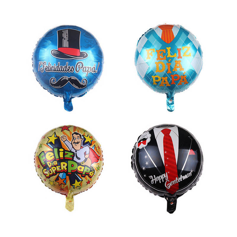 Party Supplies Foil Balloons Birthday Party Decorations 18inch Spanish Happy Fathers Day Balloons