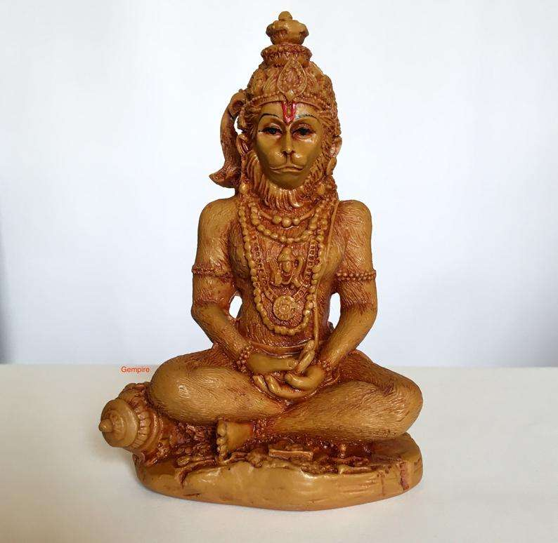 India statue Lord Hanuman Idol, Hindu Deity Sculpture