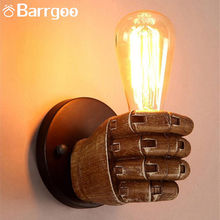 Vintage Retro Modern Resin Fist Shape Decorative Indoor LED Wall Light / modern wall sconce