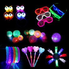 Glow in dark party supplies LED ring Bracelets glasses headband