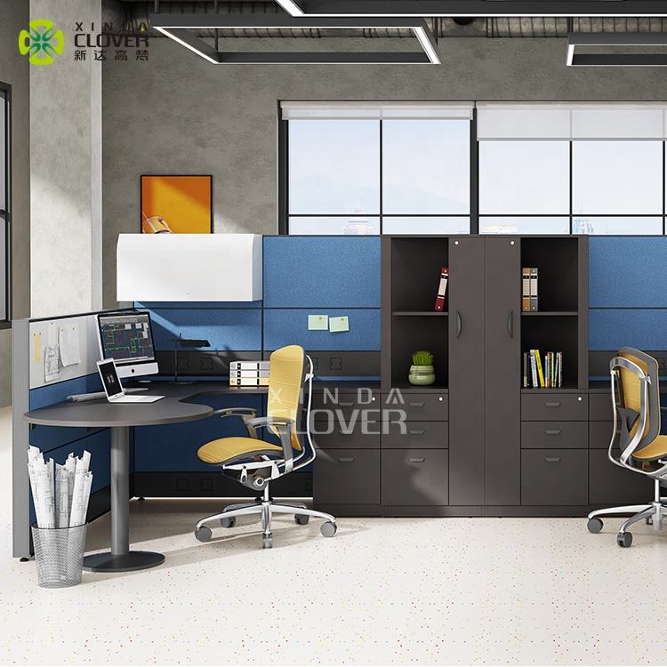 Fabric Panel U Shaped 1.6 M H Office Workstation With Partition