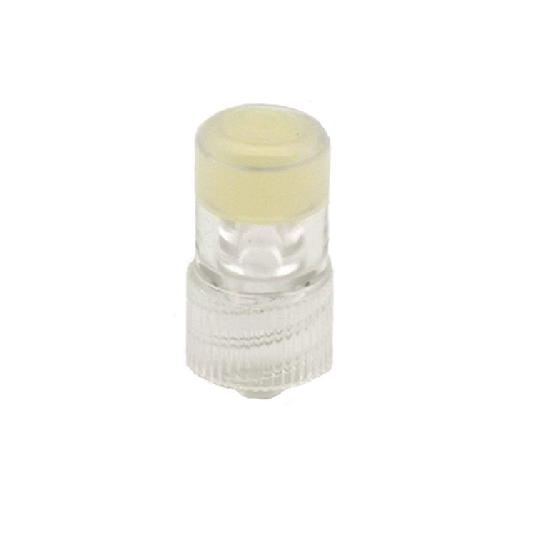 ABS Surgical Combi Stopper and Connector Heparin-Cap in Yellow and Transparent
