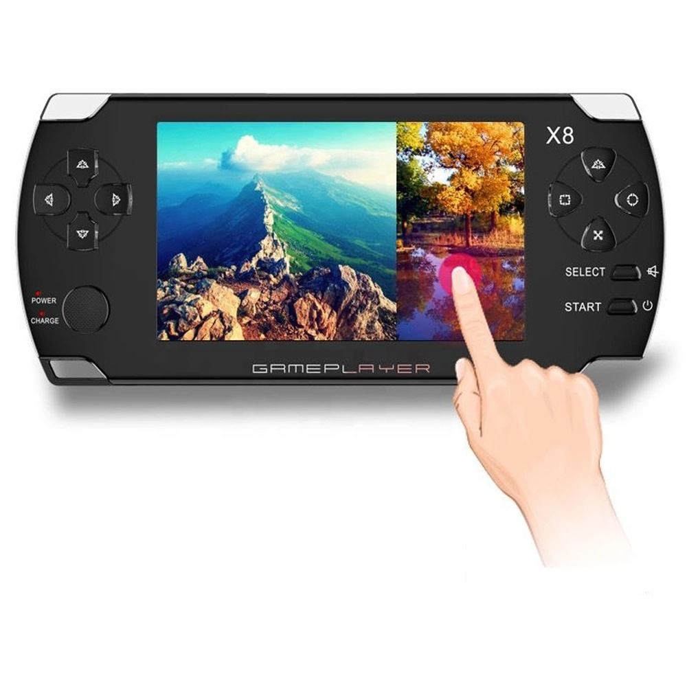 2020 Manufacturer Direct Sales Popularly Selling Touch Screen X8 Box X8 Video Game Console 4.3 inch Support RMVB/MP4/3GP/AVI