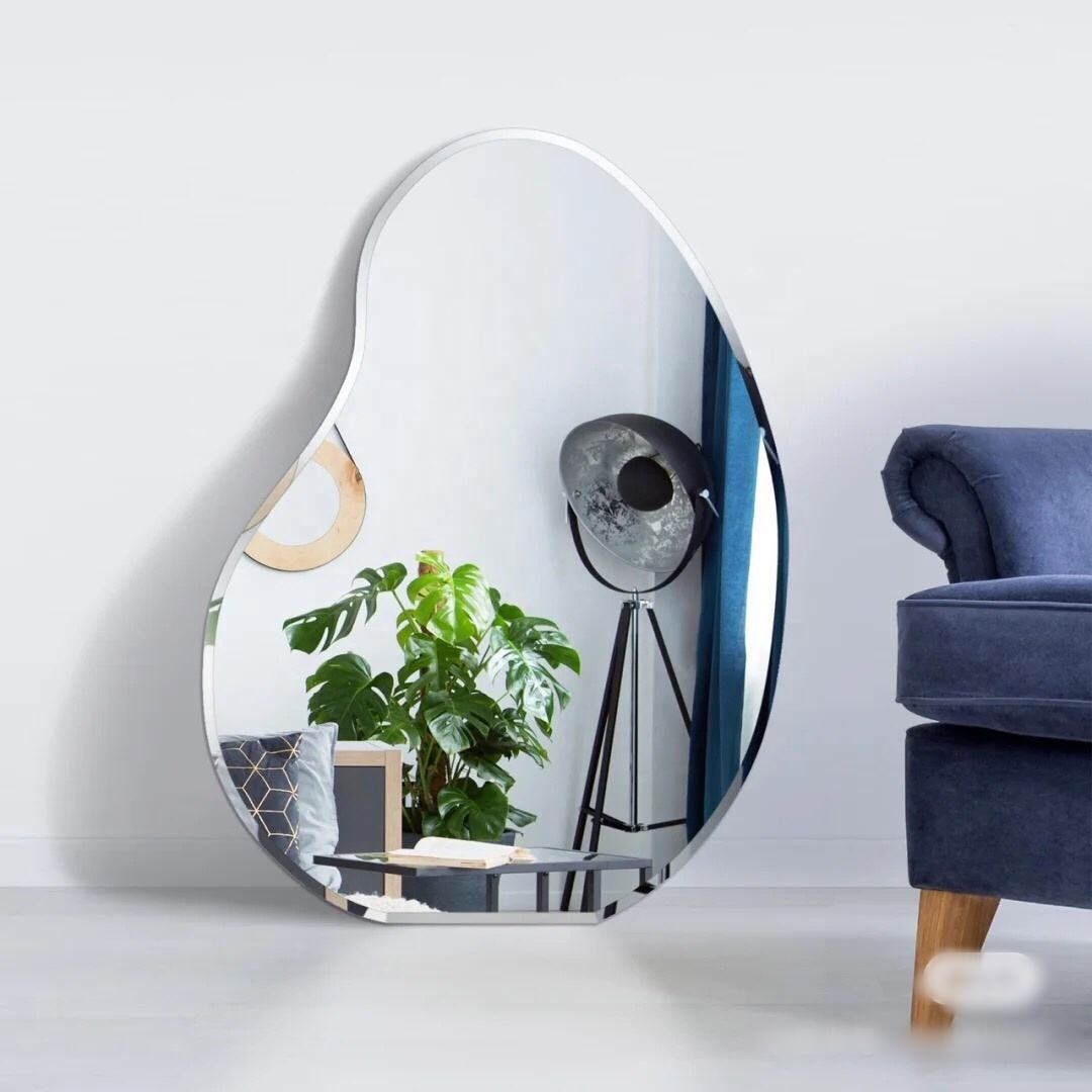wholesale bathroom living room wall decoration ins style mirror mango shape mirror