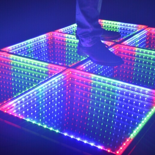 High Quality Led Dance Floor For Club Disco Night Club Ce Rohs Dmx Rgb Color 3d Infinity Mirror Led Dance Floor