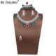Bedazzled Fine jewelry women colorful mix stone jewelry sets rhodium plated China factory direct sale