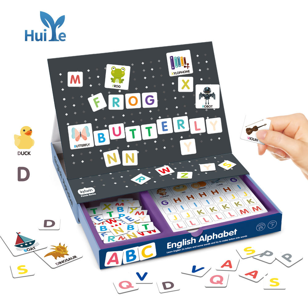Huiye MagnetiBook Magnetic Educational Alphabet Game for Learning to Read and Write Educational Toy For Kids