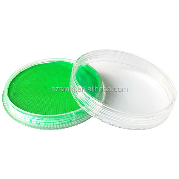 Halloween Neon body paint face painting drawing pigment 30g water based face makeup cream paste UV glow paint