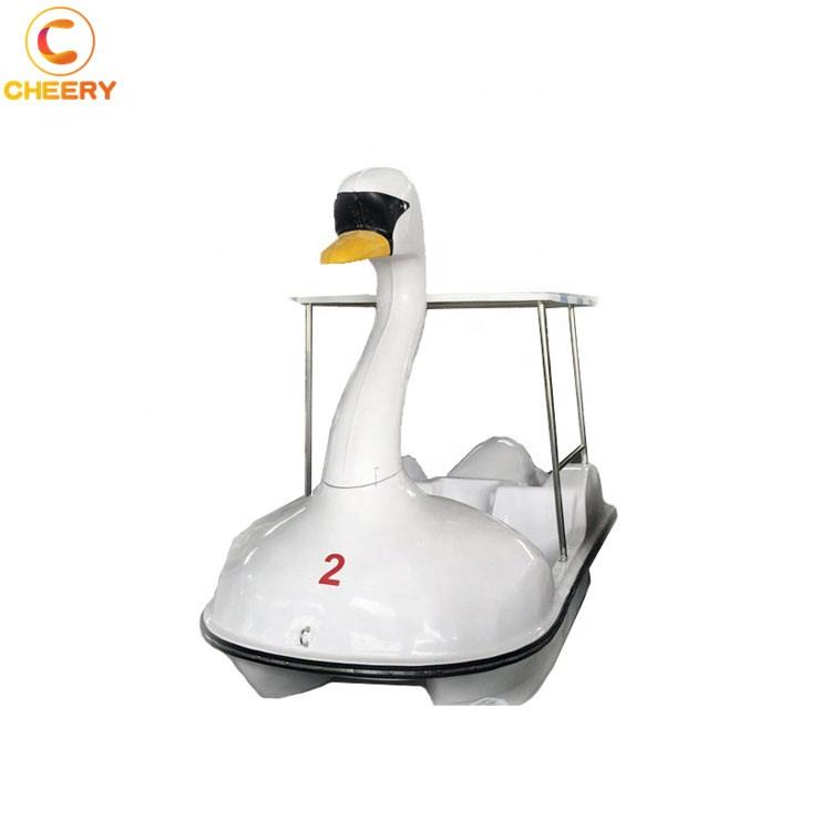 Good quality water amusement park rides 2 seats swan pedal boat swan boat 2 people