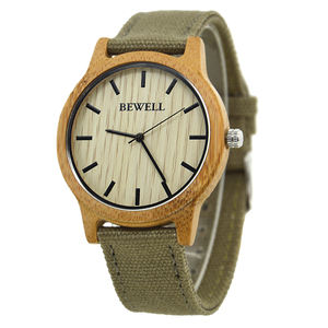 Bewell hot Wholesale Japan Movement Wood Watch Custom Logo Wrist Watch nature wood color wood watch for men and women