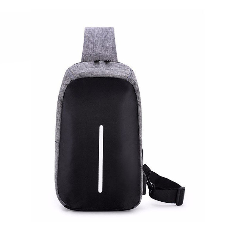 Hot Sale Classic Unisex Travel Cheap Price Shoulder Chest Bag Men Waterproof Anti Theft Sling Bag With USB Connection