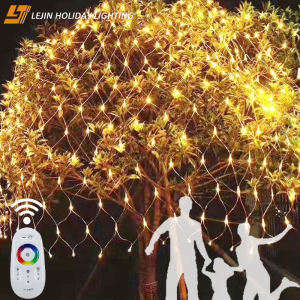 Beautiful christmas waterfallwedding party led net lightWarm White Lights for Christmas Outdoor