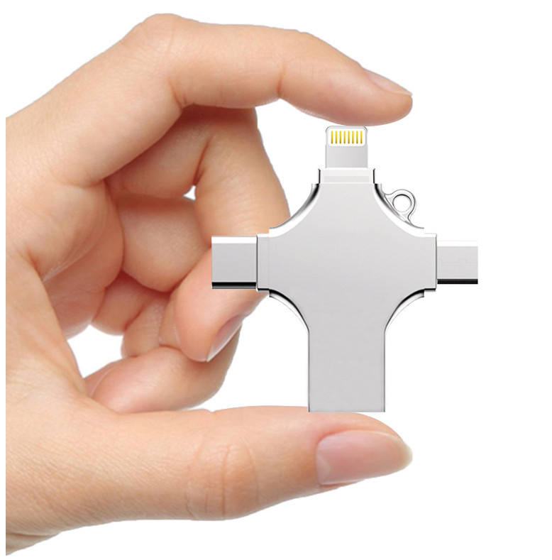NEW <span class=keywords><strong>4</strong></span> Trong 1 USB 3.0 Flash Drive Cho <span class=keywords><strong>iPhone</strong></span> Android Loại C Usb Key OTG <span class=keywords><strong>16GB</strong></span> 32 GB Pendrive 128GB