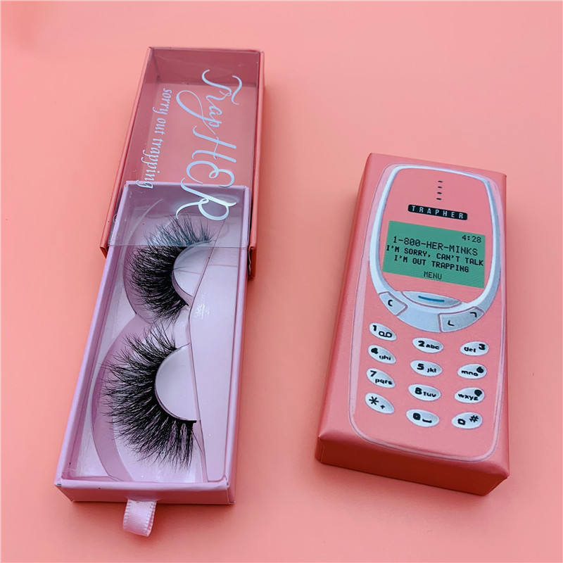 most popular private label phone case Butterfly Dramatic long 3d 25mm mink strip eyelashes luxury design box