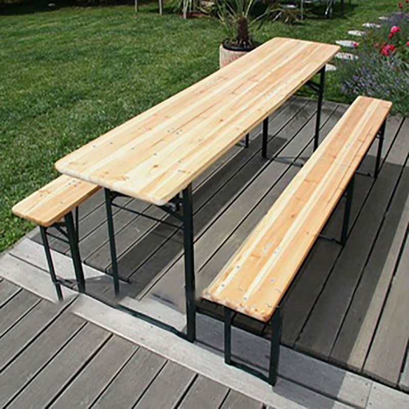 Outdoor Portable Foldable Wooden Beer Garden Table and Bench Set