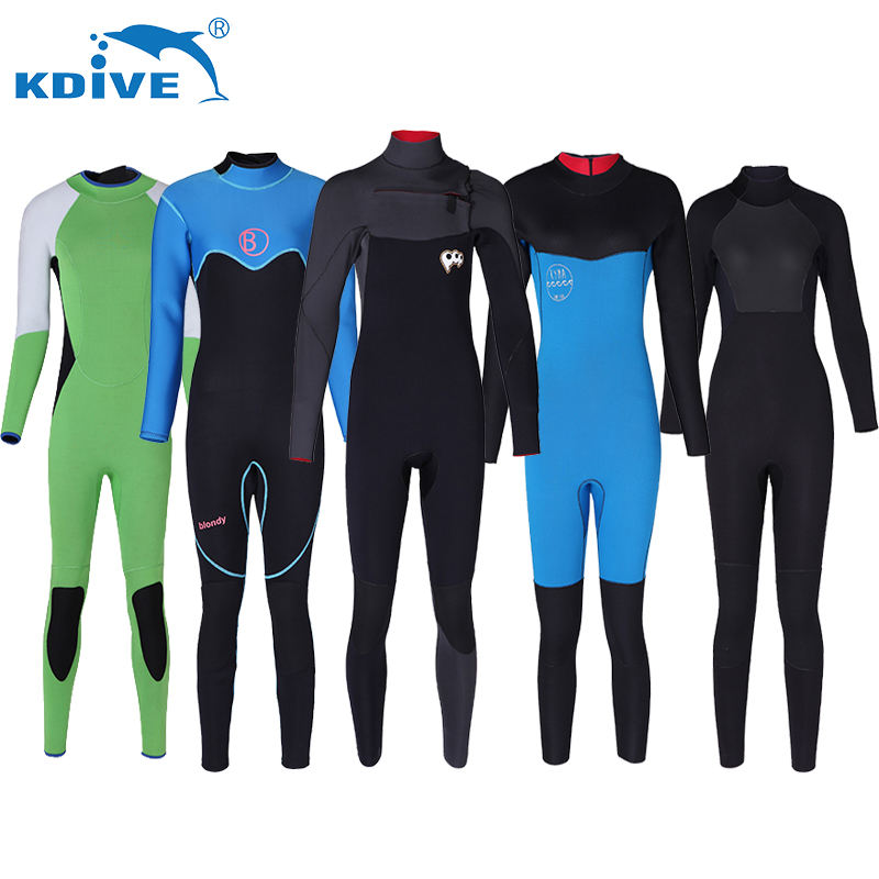 HY1105 CR neopren 3-7mm uzun Kollu göğüs zip Triatlon Wetsuit Mens