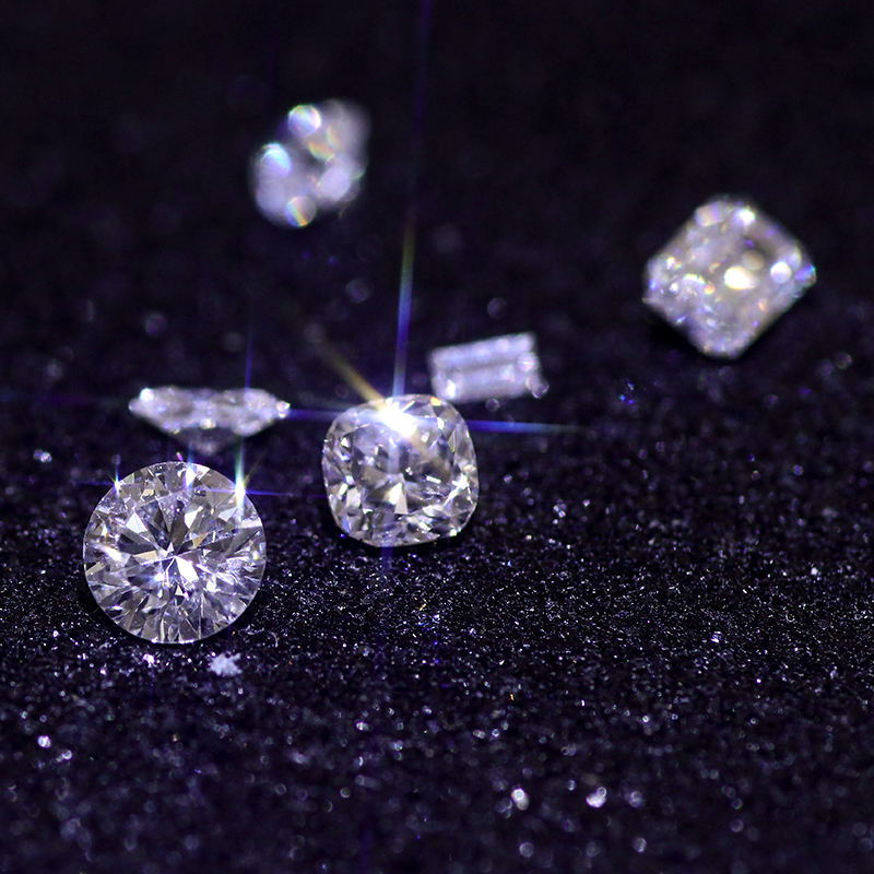 Factory Wholesale White Round Cut Synthetic Diamond
