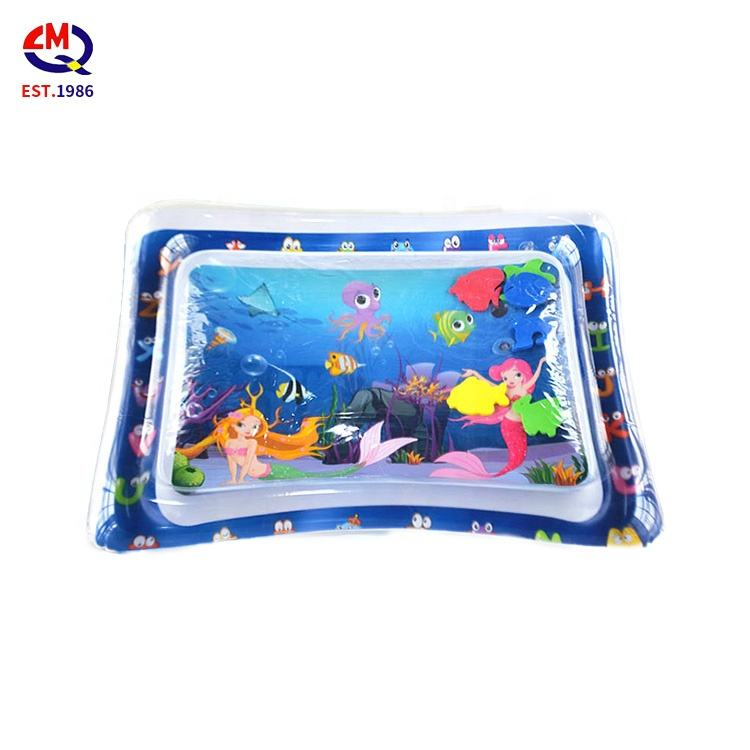 tummy time inflatable baby mat toddlers fun activity early development water play mat