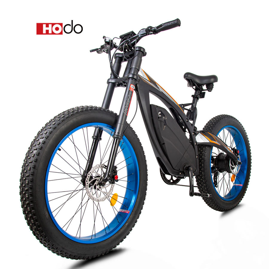HOdo Sports MTB Full Suspension Frame Electric Fat Bike Lithium Battery Fast e Rode Mountain Bicycle