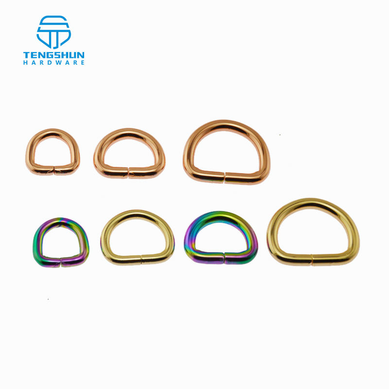 The iron D-ring for handbags metal accessories for bags OEM metal D-ring with various sizes wholesale