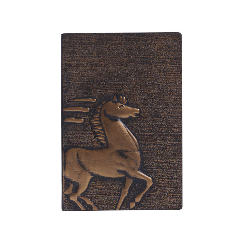 A5 Fine horse leather hard cover notebook,Classic Creative 3D embossed leather notebook,Travel Journal