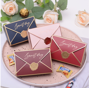 European creative envelope candy box Wedding Party Favors Chocolate Paper Gift Box