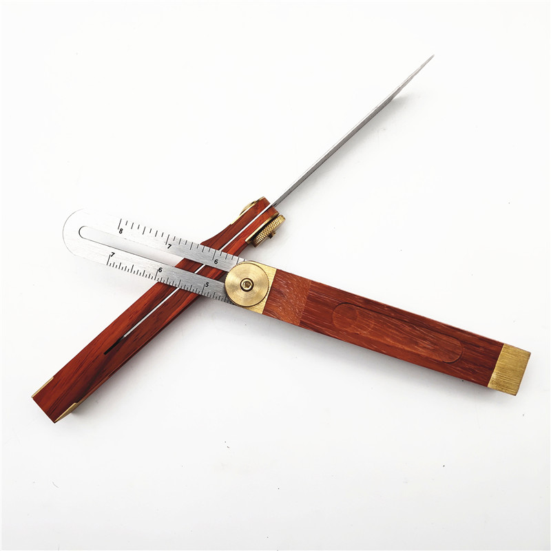 Stainless Steel Sliding T Bevel Ruler With Wood Handle