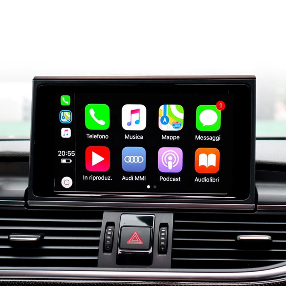Car Multimedia Senza Fili di Apple Carplay Modulo 3 Gmmi/Mib per Audi A6 C6 C7 A7 Carplay IOS13 Android Auto video Interfaccia Della Fotocamera