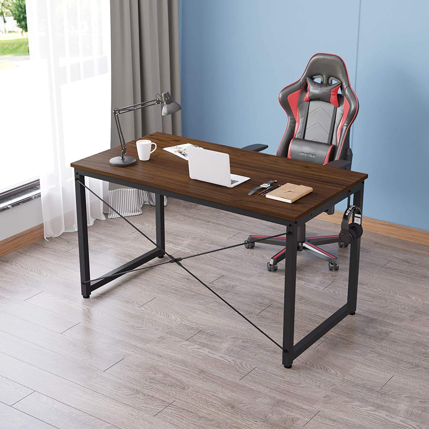 No.2501r Home Office Writing Desk SOHO Computer Desk Metal Frame Modern Simple Style Laptop Table