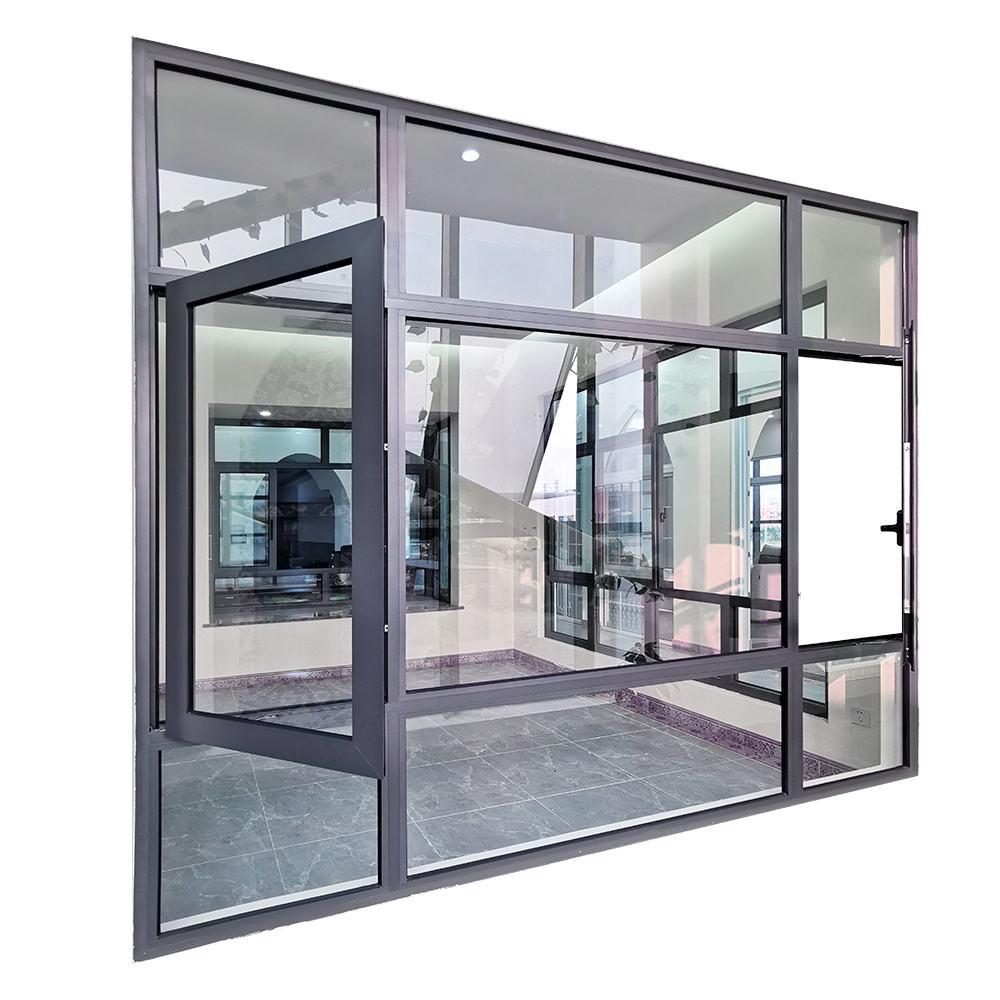 Soundproof double glazed insulated aluminium casement windows design