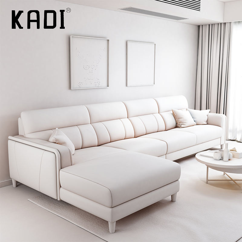 Hotel clásico blanco azul naranja de lujo moderno de lujo sofá de cuero