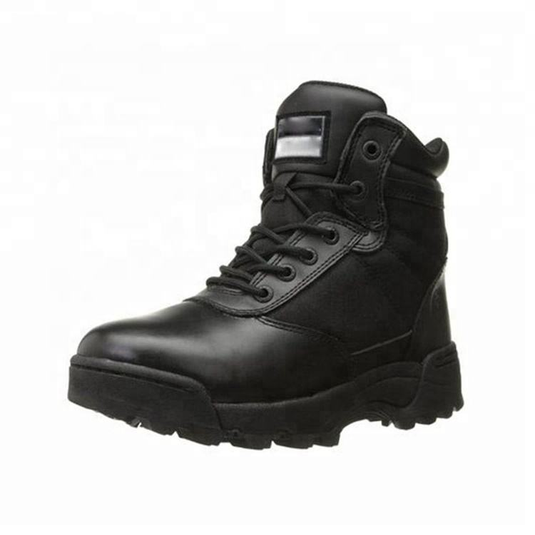 YAKEDA leather police side-zip combat duty army tactical swat shoes military boots for men