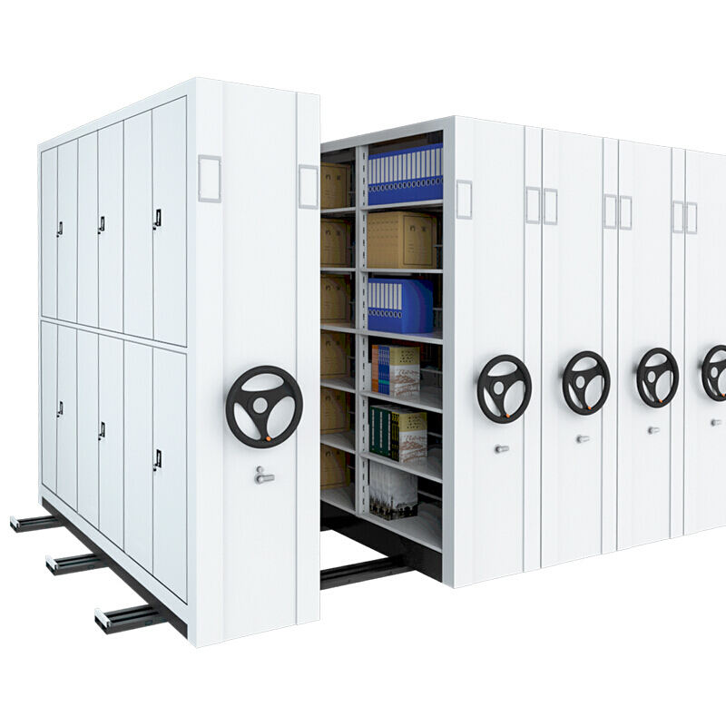 Manual Mass Shelf Mobile Filing Cabinet Compact Shelving System