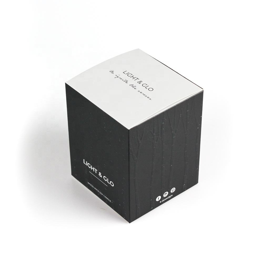 Wholesale costom embossing candle packaging box