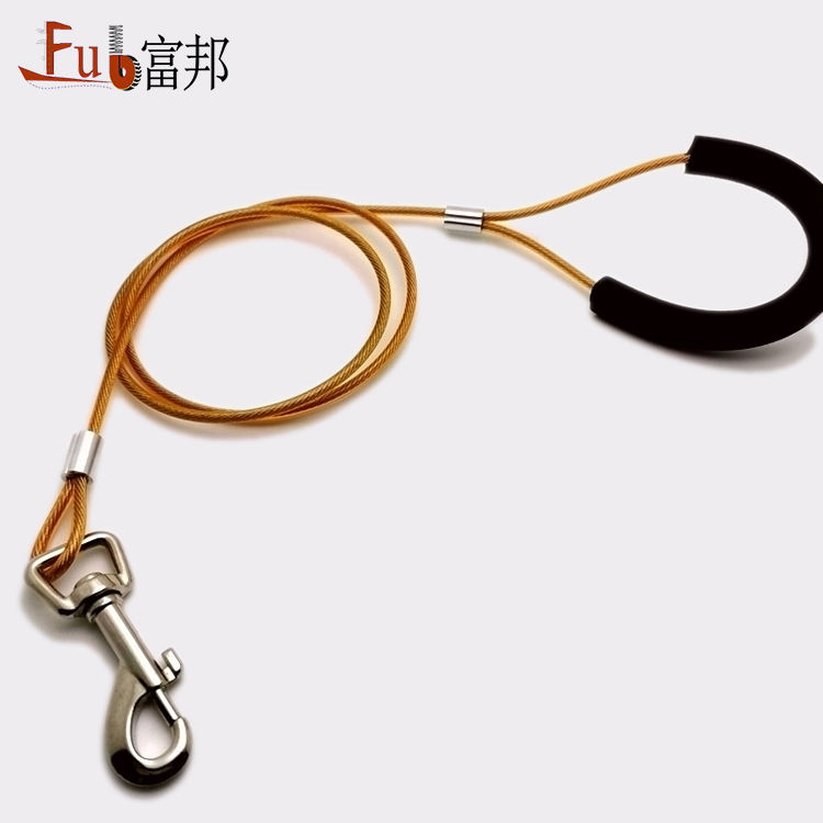 Newest OEM Pet Dog Chain Traction Rope Training Dog Leash With Hook