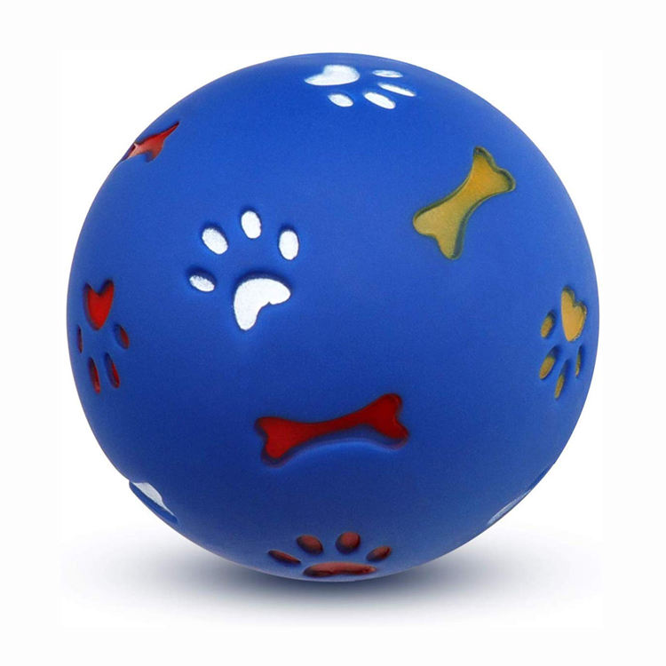 Funny Colorful Pet Dog Ball Plastic Dog Chew Toy Ball Dogs Play Toys