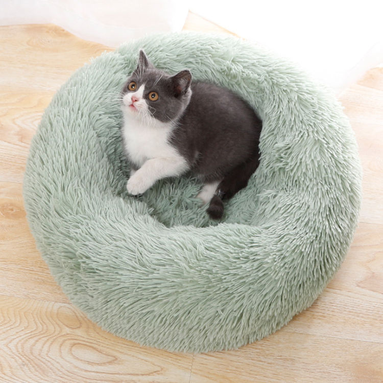 Cheap Large Fluffy Pet Dog Beds Wholesale Donut Plush Luxury Cat Pet Dog Sofa Bed
