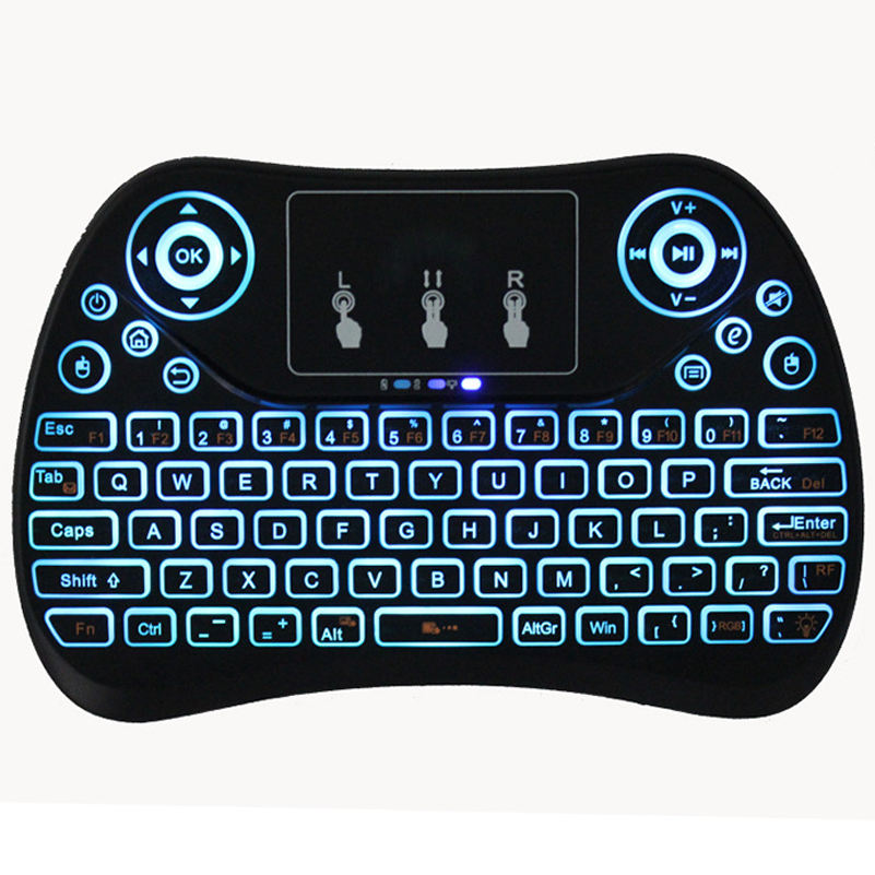Ergonomic Surface Pocket Handheld Backlit Mini Wireless Keyboard Android Smart TV touch pad keyboard