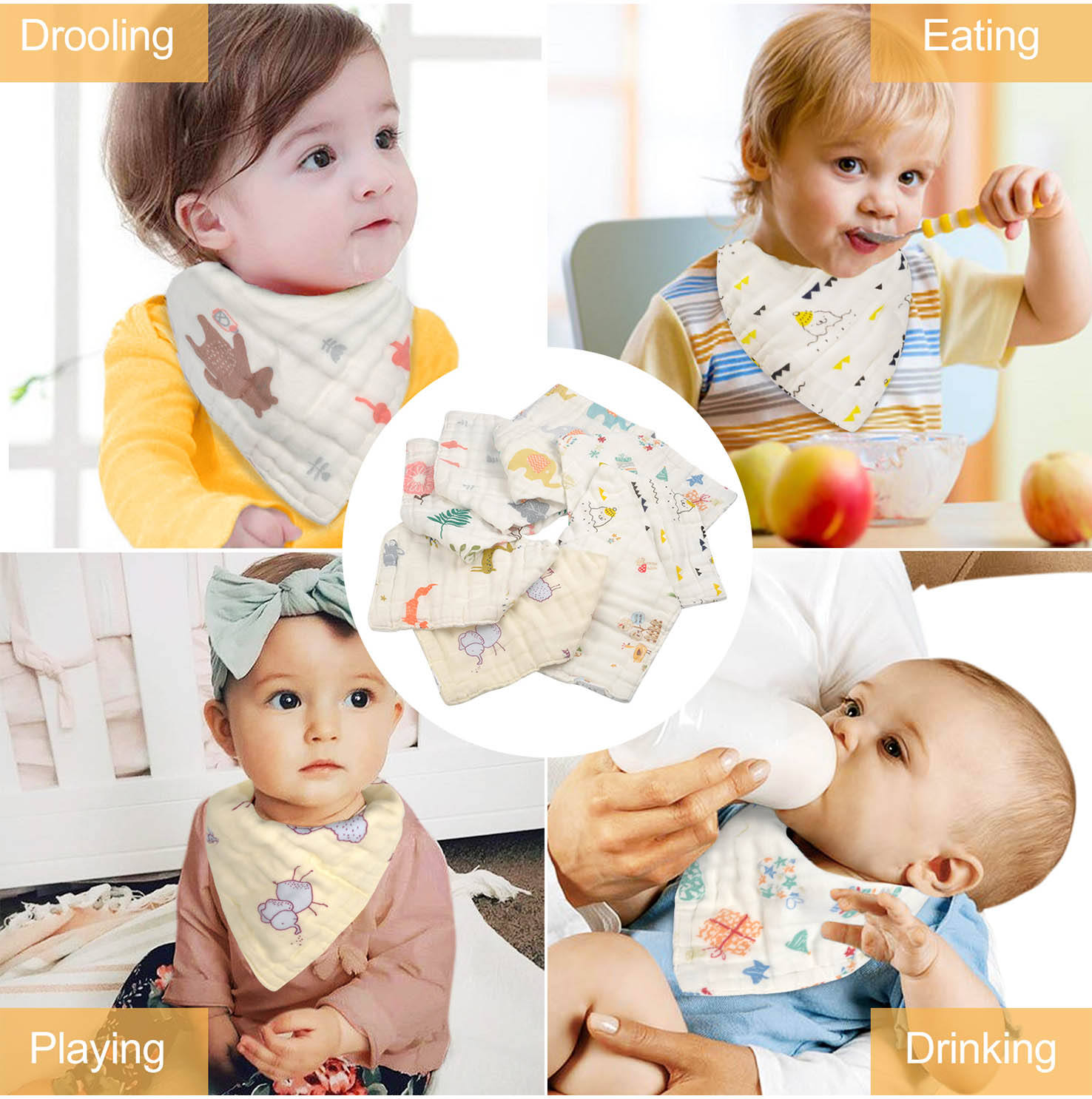 I drink and know things funny  Gaming Unisex Saliva Baby Bibs washable reusable
