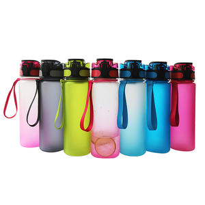 Sports Fitness Workout Plastic Tritan Water Bottle with Time Markings & Measurements 1000ml/32OZ