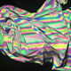 hi visibility colorful reflective stretch fabric, rainbow silver color reflective spandex fabric
